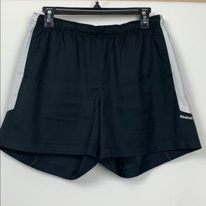Reebok black/white shorts size Med.